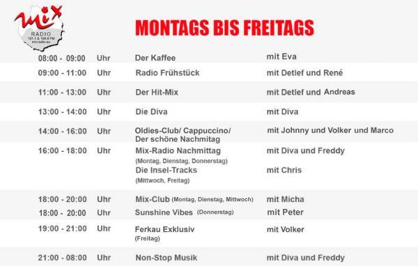 Mix Radio Gran Canaria - das Programm