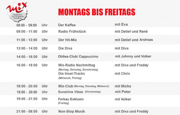 Mix Radio - Porgramm: September 2018