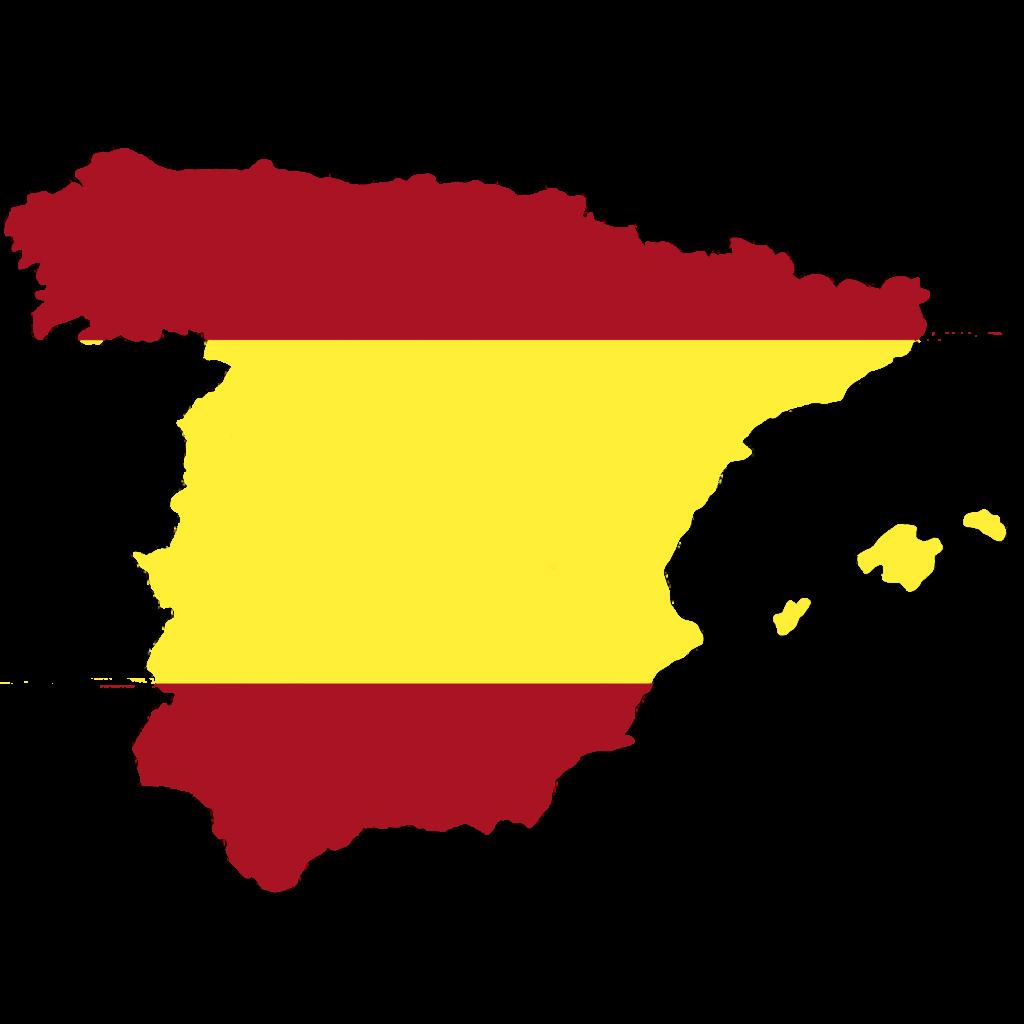 Mix Radio Wetterkarte Spanienflagge